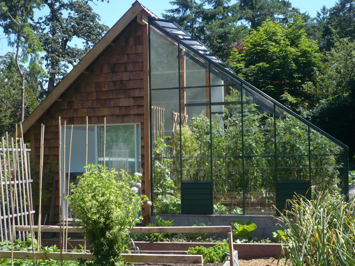 Home attached greenhouses for Greenhouse house plans