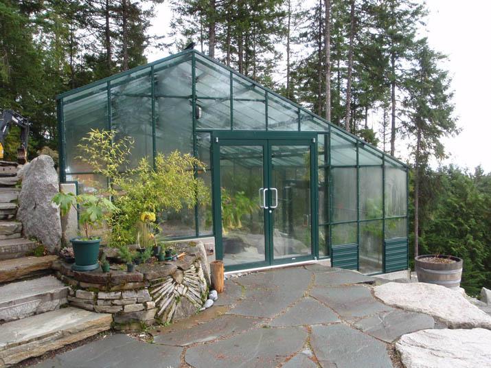 Custom Double Glass Greenhouse