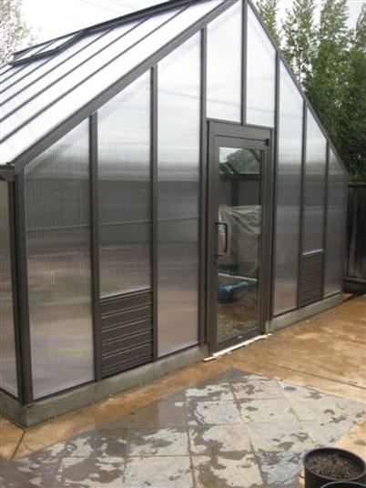 16x20 Greenhouse with Storefront Door