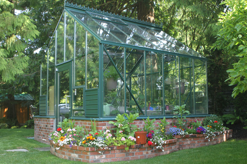 Brick Foundation Cottage Style Greenhouse