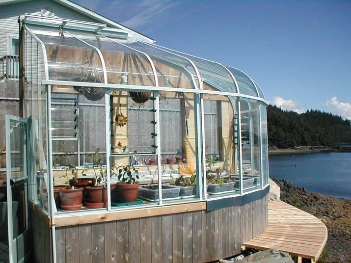 Custom Curved Eave Greenhouse in Ketchikan
