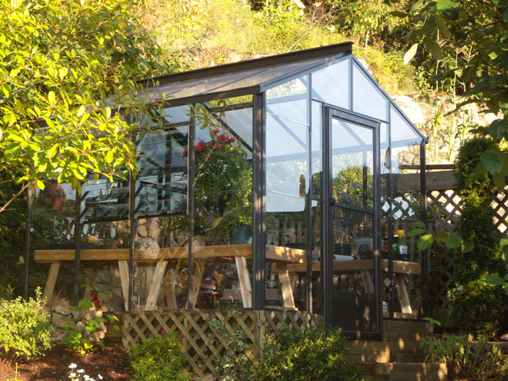 8x8 Glass & Twinwall Legacy Greenhouse
