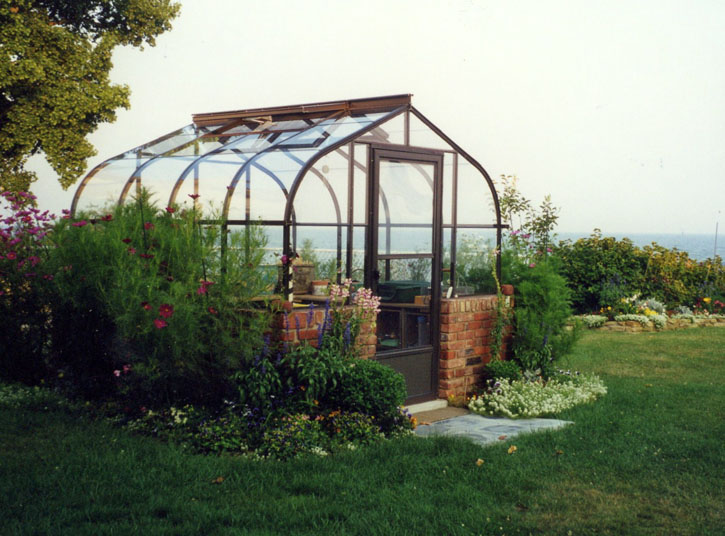 Single Glass Pacific Greenhouse with Door Drop