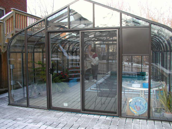 Pool Cover Pacific Greenhouse with Sliding Door