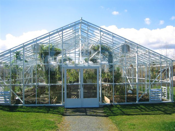 Custom Traditional White Greenhouse - Single Glass