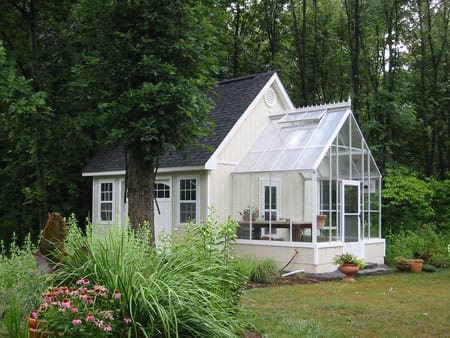 home attached greenhouse